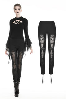 DARK IN LOVE-Gothic Pants Lace Front