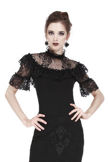 DARK IN LOVE Gothic Elegant Lace Top