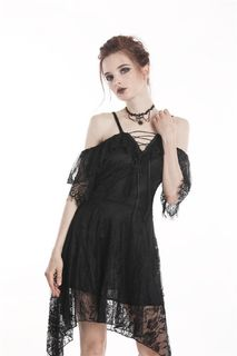 DARK IN LOVE- Gothic Lace Sexy Off Shoulder Dress